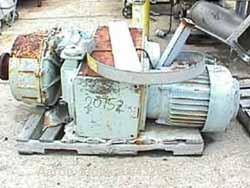 USED: Sterling agitator drive. 15 hp variable speed motor, 220/440volt 1200 rpm, output 20-60 rpm, bridge mountable.