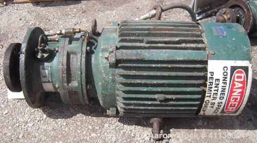 Used- Sumitomo Flange Mount Agitator, Model CVVM20416HYBAV15. Ratio 15 to 1, output 117 rpm. Driven by a 20 hp, 3/60/230/460...