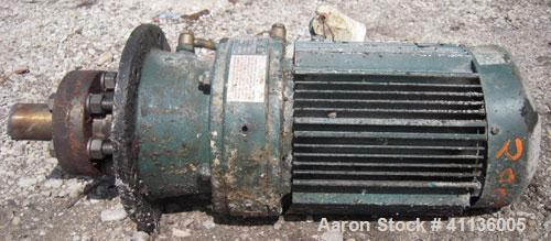 Used- Sumitomo Flange Mount Agitator, Model VM3145B. Ratio 29 to 1. Driven by a 5 hp, 3/60/230/460 volt, 1720 rpm motor. App...