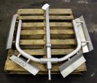 Used- Anchor Style Agitator with Sidewall and Bottom Deflector Blade, Bottom Supported, 316 Stainless Steel. 2-1/2