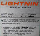 Used- Lightnin Top Entering Agitator, Model XJCK-43. 4