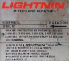 Used- Lightnin Top Entering Agitator, Model XJCK-43XP