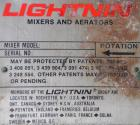 Used- Lightnin Top Entering Agitator, Model XJCK-43XP. 4