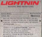 Used- Lightnin Closed Tank Design Top Entering Agitator, Model XJSS-430