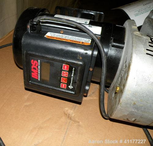 Used- U.S. Best Clamp On Agitator, Model ABT1V. Driven by a 1 hp, 1/60/115 volt, 1725 rpm motor. Includes a Franklin IMDS mo...