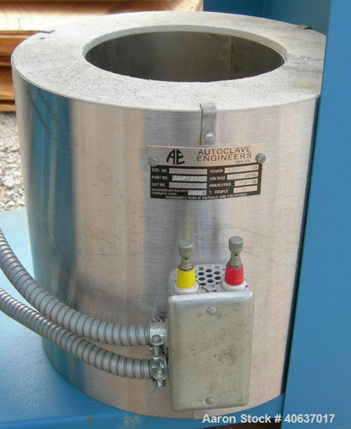 "Used- Autoclave Engineers Reactor, 1 Gallon, Inconel 625, Vertical. 4"" Diameter x 12"" straight side. Flat bolt on top, dishe..."