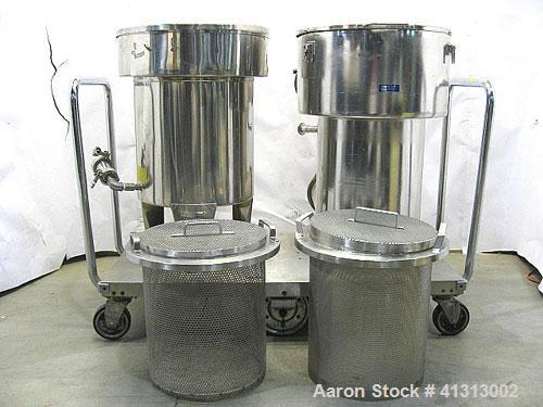 Used-Schubert Capsolut Washers. Stainless Steel. Complete with Stainless Steel Basket