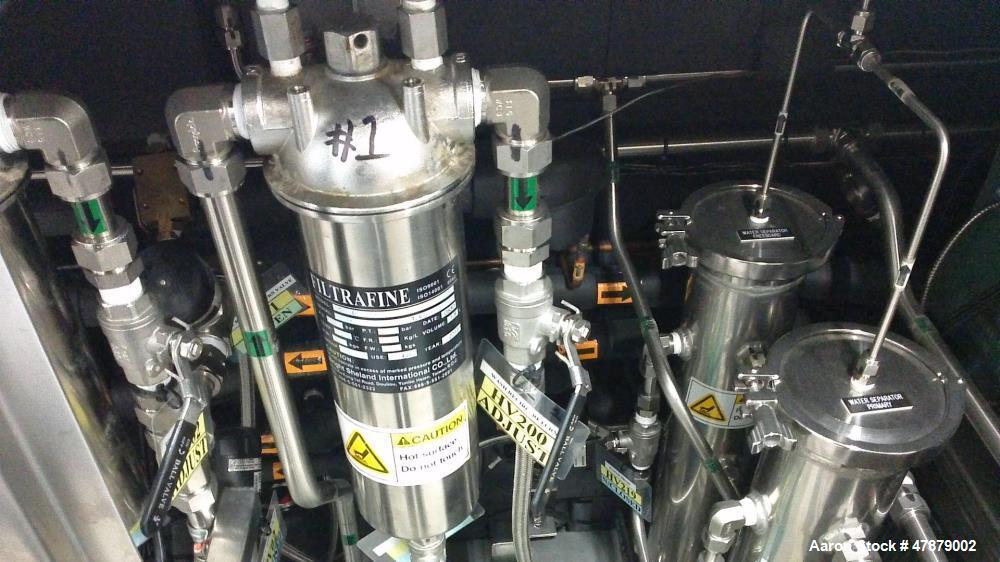 Used- Crest Superheated Ultrasonic Vapor Degreaser Washer. 40 kHz, Model F-300-3/181212. 2nd rinse tank with 40 kHz ultrason...