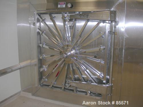 "Used- Amsco Sterilizer, Model VAC2373, Horizontal, Nickle Clad Interior. Jacketed chamber 42"" wide x 48"" tall x 99"" long. 40..."