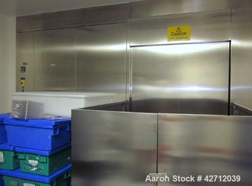 Used- Fedegari Pass Thru Autoclave, Model FOAF8/DD. 316 Stainless steel. Dual door, cart with trays and controls. PRICE INCL...