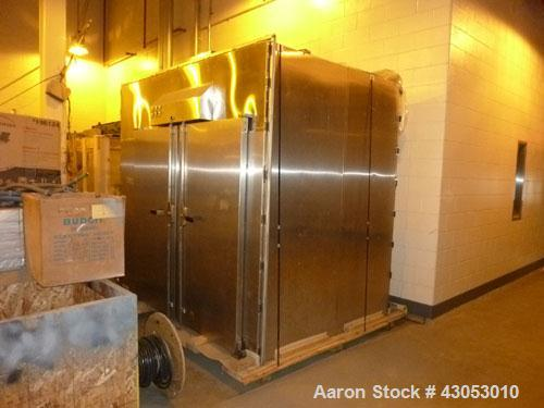 Used-Gruenberg Sterilizer, 43.9 cubic feet, hot air, with all stainless steel contact parts, carts and trays.  Front and bac...