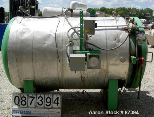 """USED- Mark Costello Company Waste Sterilizer, Model AS46, Carbon Steel, Horizontal. Non-jacketed chamber 46"""" diameter x 80"""" ..."""