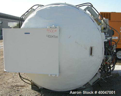 """Used-  WSF Industries Horizontal Autoclave / Sterlizer, 316L Stainless Steel.  Approximately  72"""" diameter x 8' long.  Inte..."""