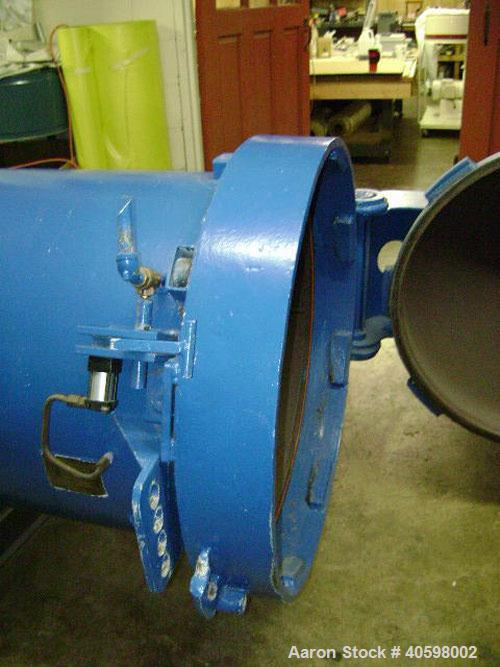 """Used-29"""" x 158"""" Steam Autoclave with quick opening door. 100 psi maximum working pressure, 650 deg F. Built by Butane Tank C..."""