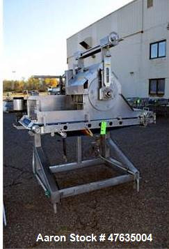 "Used-Waterfall Applicator with 28"" W Belt Conveyor and Carousel (Tag 1151443)"