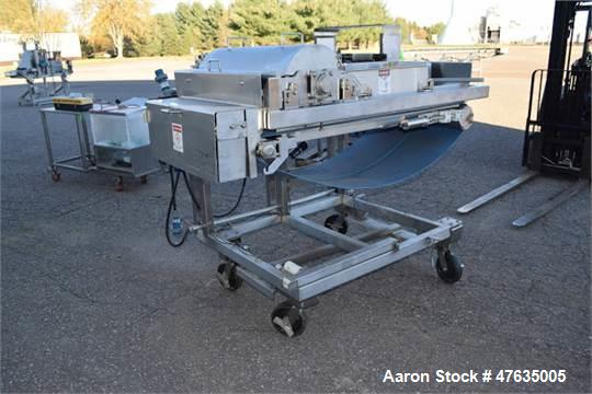 """Used-Loos Water Fall Applicator, S/N 4197-10026 with 28-1/2"""" W Belt Conveyor, Mounted on Load Cells and Carousel (Tag #11515..."""