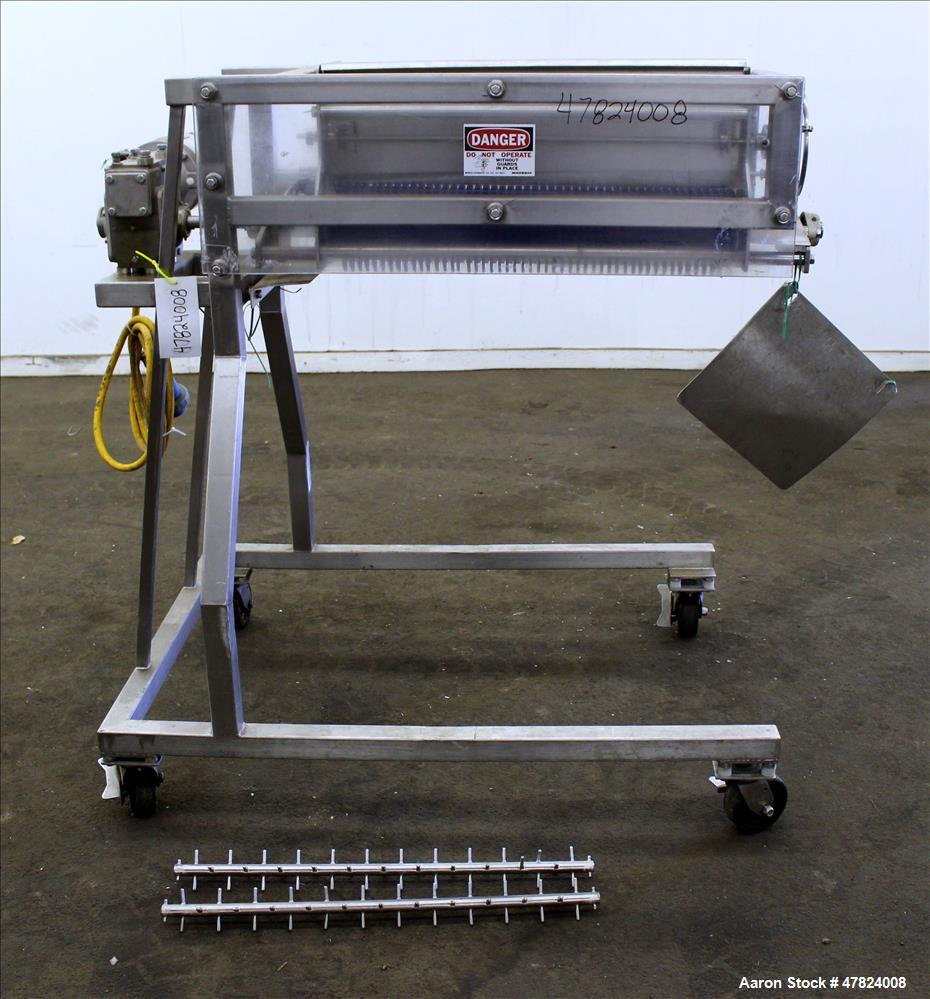 Used- Loos Machine Applicator, Stainless Steel. Roll type applicator with (2) lump breakers. Roll driven by a 1/2hp gear mot...
