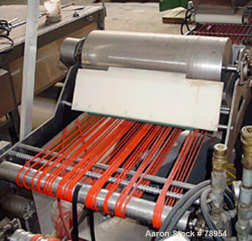 """USED: Tomato sauce applicator, waterfall style. Applicator: 27"""" wide x 12"""" diameter stainless steel application roller with ..."""