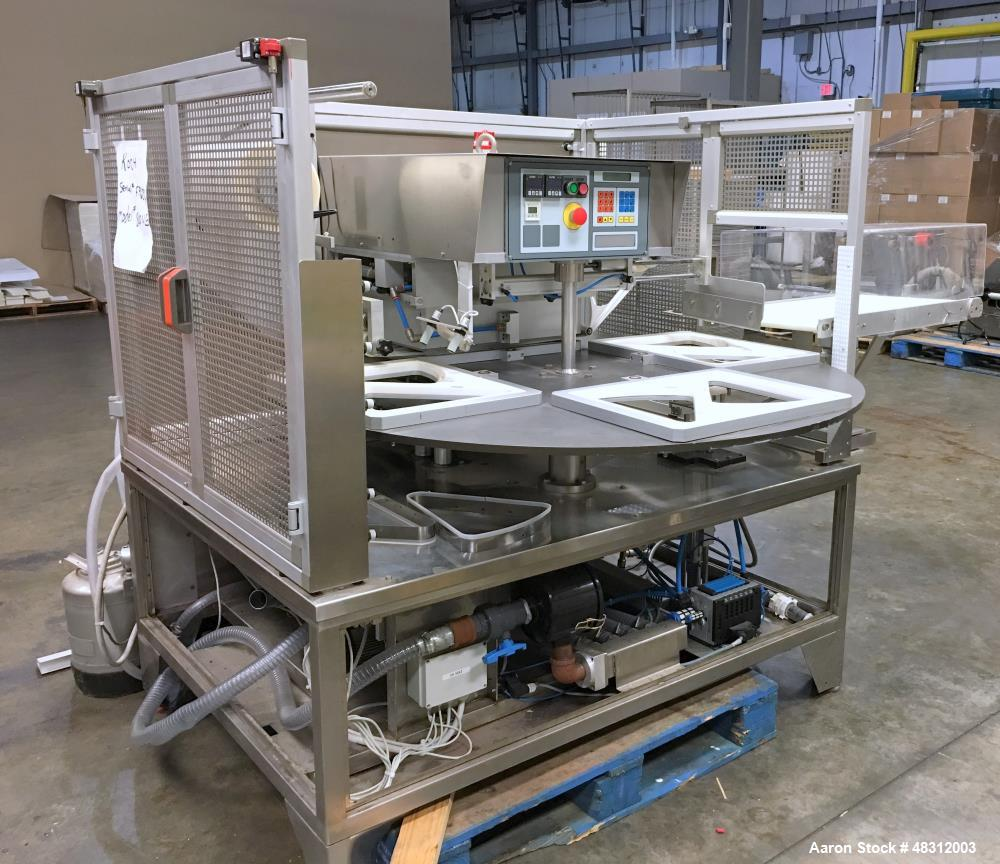 Used-Koch Tray Sealer, Model 800VG. Machine, max tray size: 15.7? X 11.8? X 4.7?  Serial # FP6376.  Built 2005