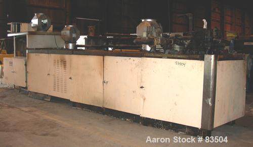 "USED- Baker Perkins Gas Fired Wafer Baking Oven. Approximately 45 chain driven plates 11-5/8"" wide x 18-1/2"" long (292mm x 4..."