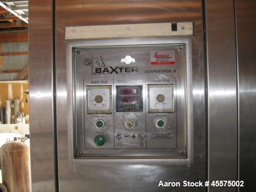 Used- Baxter Advantage II Double Rack Oven, Model 0V200G-M2