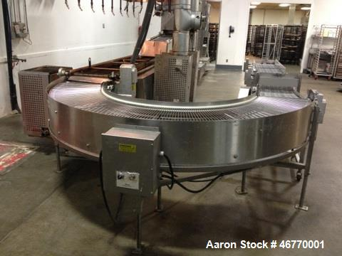 Used- Belshaw 400 Donut Line. Including: infeed, double proof-box, fryer, fryer hood, 180 degree belt, small in- feed belt, ...