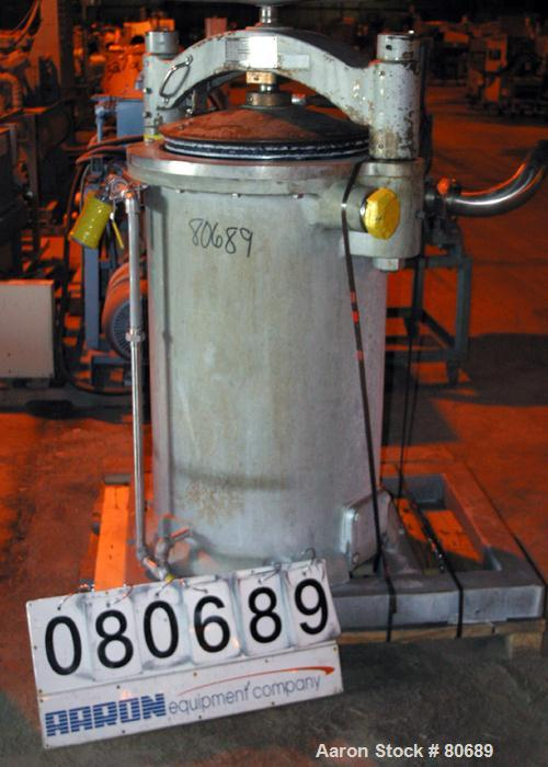 Used- Buffalo Food Processing Equipment Stuffer, Model 500STCIPISTON, Cast Iron. Approximately 60 gallon (240 quart) capacit...