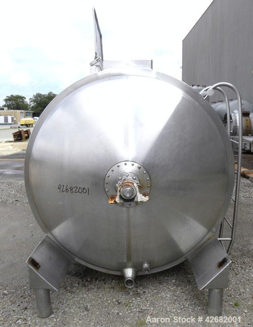 Used- Crepaco Continuous Positive Flow Liquid Sponge Fermentor, Model 10M, 304 Stainless Steel, Horizontal. Non-jacketed tan...