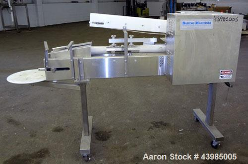 Used- Baking Machines Table Top Bagel Divider / Former, Model BM-DF-3000.  304 Stainless steel construction. Approximately 3...