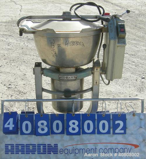 """Used- Hobart Cutter/Mixer, Model HCM-450, 304 stainless steel. 45 quart (11 gallon) bowl, 19 3/4"""" diameter x 10"""" deep with p..."""