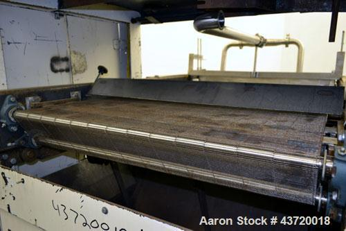 "Used- National Equipment Company Enrober.  (1) 34"" Wide x 66"" long wire mesh belt, driven by a 1 hp, 3/60/208-230/460 volt, ..."