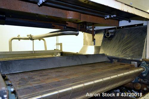 """Used- National Equipment Company Enrober.  (1) 34"""" Wide x 66"""" long wire mesh belt, driven by a 1 hp, 3/60/208-230/460 volt, ..."""