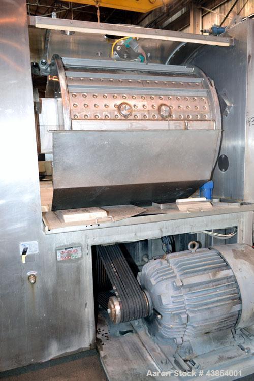 Used- Oshikiri Horizontal Mixer, Model HM1000, 304 Stainless Steel.  Approximately 1000 pound (450 kg) dough weight batch si...