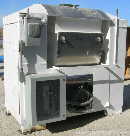 Used- Peerless Dough Mixer, Model 88, 304 Stainless Steel. Approximate 800 pound, 23.8 cubic foot batch size. Jacketed bowl ...