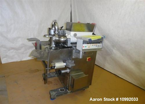Used- Rheon Cornucopia Extruder Encruster, Model KN400, Stainless Steel. Rated 60 PPM. Belt speed .07 - 1.20 feet per second...