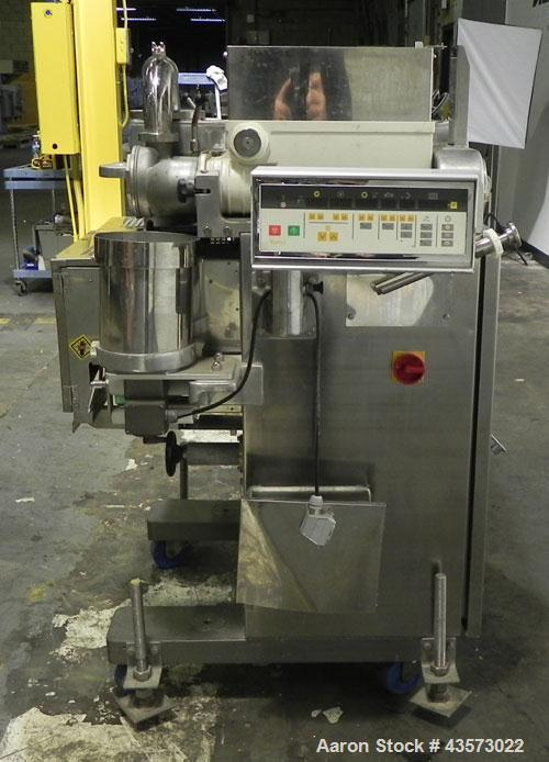 Used- Rheon Cornucopia Model KN400 Encrusting Machine. Approximate output 10-60 units per minute, product weight range from ...