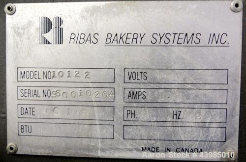 Used- Ribas Bakery Systems Vertical Cup Bagel Former, Model 10122