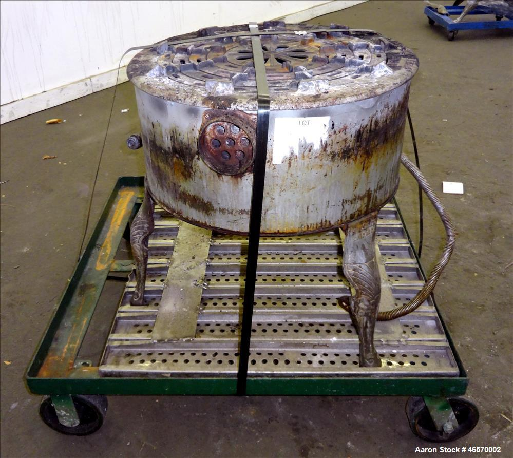 """Used- Savage Brothers Fire Cooker, Model 20, Carbon Steel. 20"""" Diameter. Approximate input rating 80,000 BTU per hour. Natur..."""