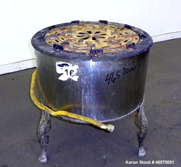 "Used- Savage Brothers Fire Cooker, Model 20B, Carbon Steel. 20"" Diameter. Input rating 80,000 BTU per hour. Natural gas. Ser..."