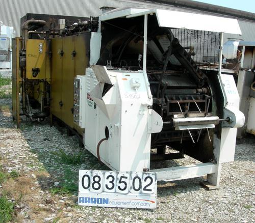 """USED- Simon Vicars Gas Fired Wafer Baking Oven. Approximately 45 chain driven plates 11 5/8"""" wide x 18 1/2"""" long (292 mm x 4..."""