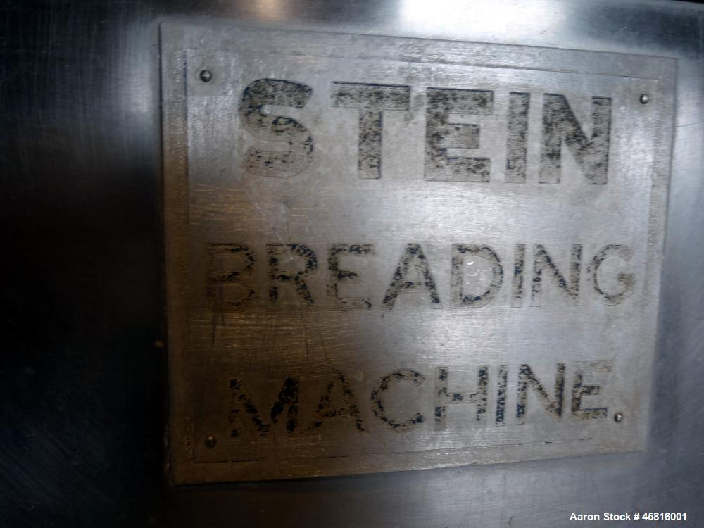 """Used- Stein 30"""" Wide Stainless Steel Breading Line"""