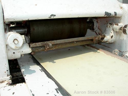 """USED- T & T Simons 3 Station Cream Spreader. 12"""" wide x approximately 20' long belt, driven by an approximate 3 hp motor wit..."""
