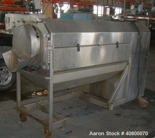 "Used- Vanmark Equipment Peeler/Washer, Series 2700, Model 02715-008, 304 stainless steel. (8) approximately 5"" diameter x 69..."