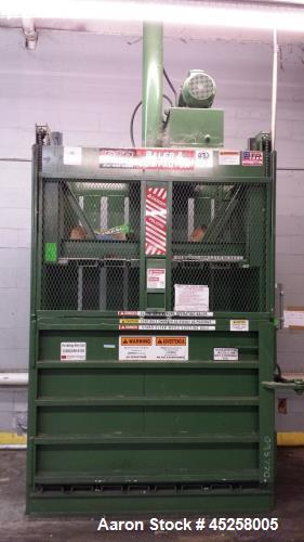 "Used- PTR Baler Downstroke, Model 2300HD. Dimensions: 95"" wide x 43"" deep x 99"" high. Weight: approximately 5400 lbs. Motor:..."