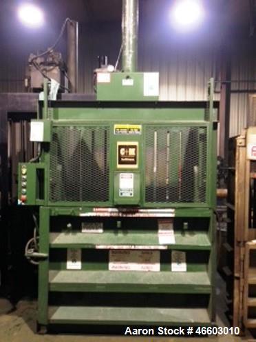 "Used- C & M 60"" x 30"" Vertical Baler. 10 HP f3/230/460 volt; unit has a 6"" cylinder."