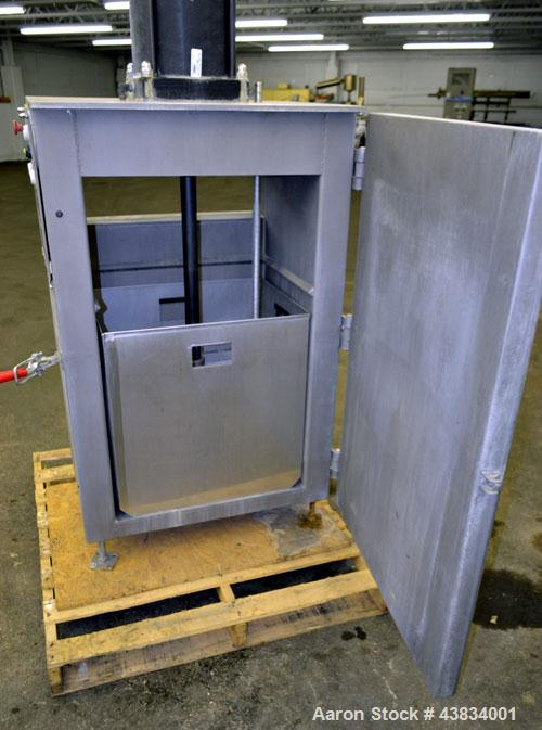 Used- American Process Pneumatic Bag Compactor, Model PBC-50, 321 Stainless Steel. Approximate holding capacity 50-100 bags....