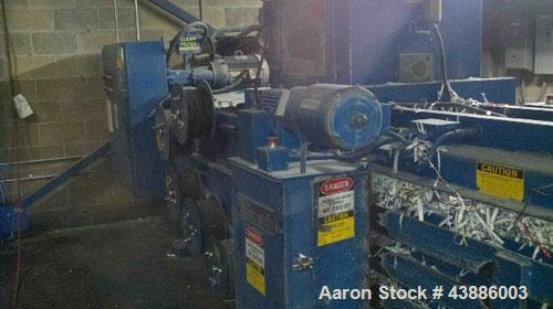 """Used-Balemaster BB3200 Horizontal Auto Tie Baler with an approximately 20 hp motor, hydraulic pump and oil tank, 6"""" (152 mm)..."""