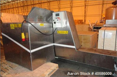 Used-Brickman 900 Waste Tin and Aluminum Can, Paper and Plastics Baler.  Press force 25 tons, bale size 200 mm x 200 mm x 10...