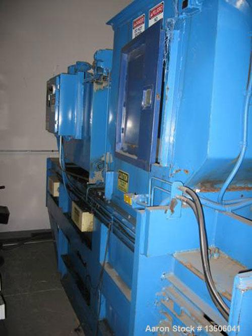 "Used-C & M Baling Systems Baler, Model 3430-6037.  Has 34"" x 30"" hopper opening, 60"" long baling chamber, 7"" cylinder.  Spee..."