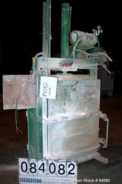 """USED: Consolidated Baling Machine vertical baler, model STDS-2.Approx 36"""" wide x 20"""" deep bales, top mounted 5 hp hydraulic ..."""